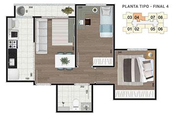 Plantas - Residenciais La Vite Jundiaí - Casa Verde e Amarela